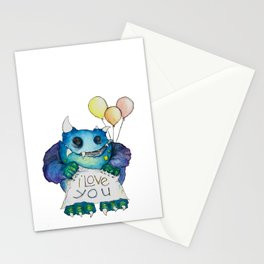 I Love You Monster  Stationery Cards