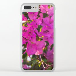 Pink Bougainvillea Clear iPhone Case