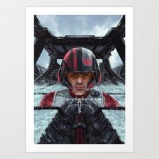 SW Hero pilot: Poe Art Print