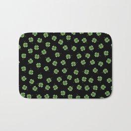 Dark Green Clover Bath Mat