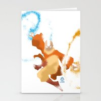 aang Stationery Cards featuring Avatar Aang minimalist Poster by LoweakGraph
