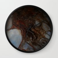 imagerybydianna Wall Clocks featuring place to rest by Imagery by dianna
