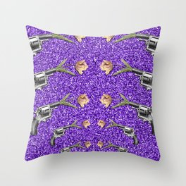 FORAL SHOT Throw Pillow