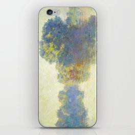 The Seine at Giverny Claude Monet 1897 Impressionist Oil Painting Nature Trees Lake Landscape iPhone Skin