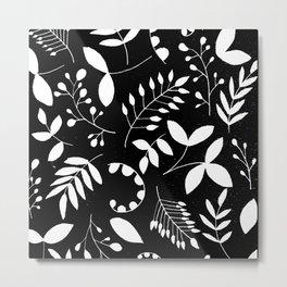 Laurels - Black & White Metal Print