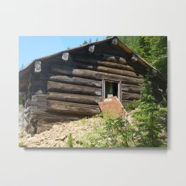 A part of history, Idaho gold mine shack Metal Print