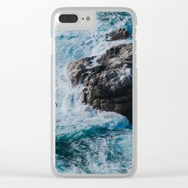 turquoise river Clear iPhone Case