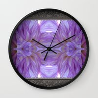 randy c Wall Clocks featuring Mingus Randy Abstract by JMcCombie