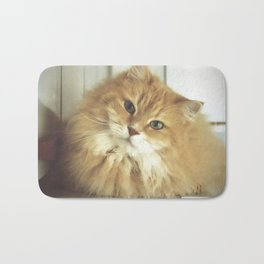 Siberian cat. Portrait of Mr. Cesare Bath Mat