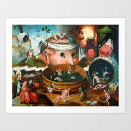 "Hieronymus Bosch (school) ""The Vision of Tnugdalus"" Art Print"