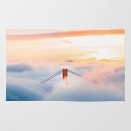 Golden Gate Bridge at Sunrise from Hawk Hill - San Francisco, California Rug