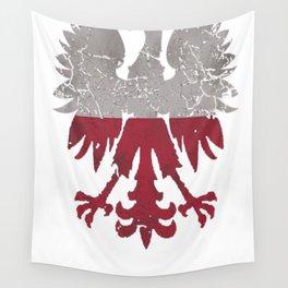 Vintage Polish Flag White Eagle Distressed T Shirt Wall Tapestry