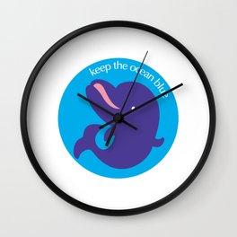 Keep the Ocean Blue_02 Wall Clock