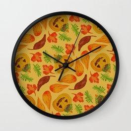 retro lovely jack-o-lantern pattern Wall Clock