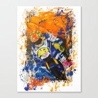 moto Canvas Prints featuring Moto Splash by Echo9Studio