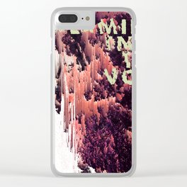 screaming into the void Clear iPhone Case