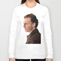 tom hiddleston Long Sleeve T-shirts featuring Tom Hiddleston - Low Poly by khitkhat