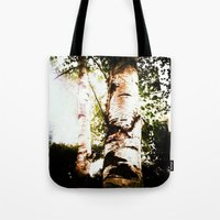 birch Tote Bags featuring birch by Eva Lesko