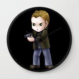 Chibi Dean Winchester (Black BG) Wall Clock