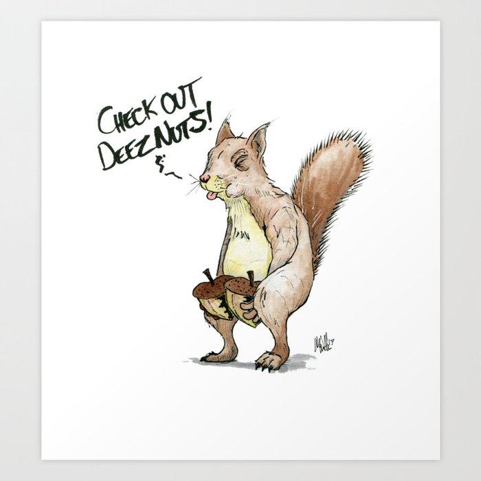 A Sassy Squirrel Kunstdrucke