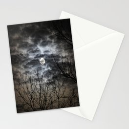 Moon lit night Stationery Cards