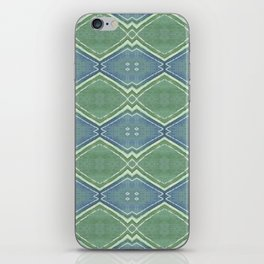 small zigzag on blue and green iPhone Skin