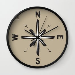 Further West / Further North / Further East / Further South Wall Clock