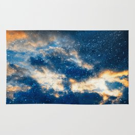 Glowing Acrylic Clouds Rug