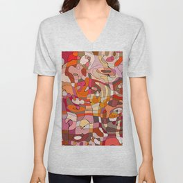 Dogs Abstract II Unisex V-Neck