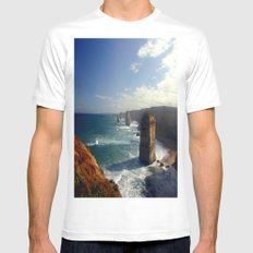 Rock Stacks & Gigantic Mainland Cliffs Mens Fitted Tee White SMALL