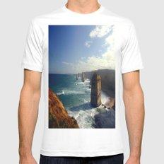 Rock Stacks & Gigantic Mainland Cliffs Mens Fitted Tee White MEDIUM