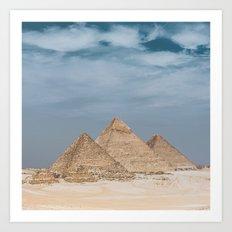 Giza Pyramid Complex Art Print