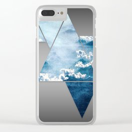 Fragmented Clouds Clear iPhone Case