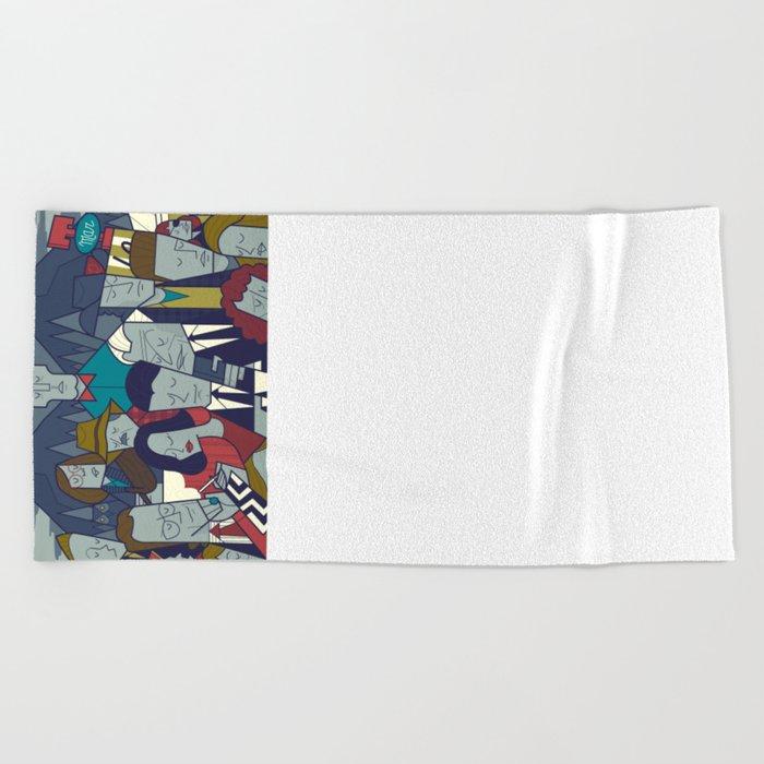 Twin Peaks (variant) Beach Towel