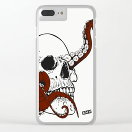 Skull octopus Clear iPhone Case