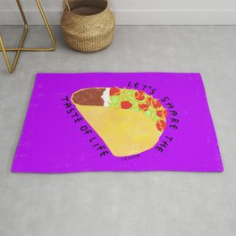 Tacos Humor Life Quotes Rug
