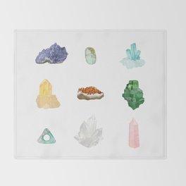 Gemstones Throw Blanket