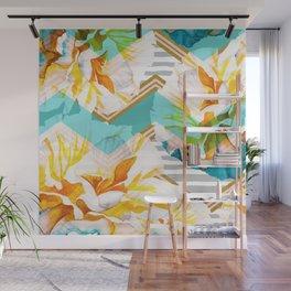 Flourishing between geometric Wall Mural