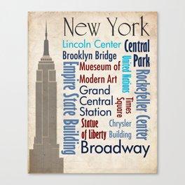 Travel - New York Canvas Print