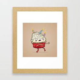 Cupcake zombie 8 Framed Art Print