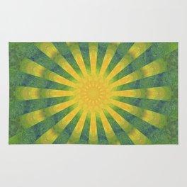 yellow rays Rug