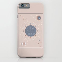 Know your Power iPhone Case