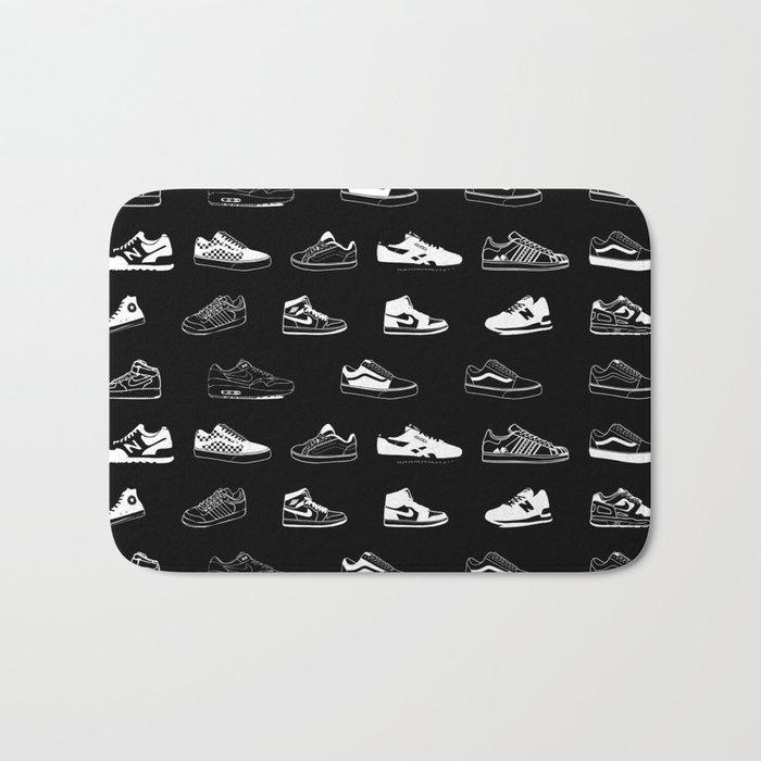 Black Sneaker Bath Mat
