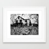 dramatical murder Framed Art Prints featuring murder. by christopher justin gilner photographic