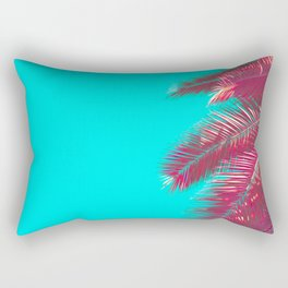 Neon Palm Rectangular Pillow