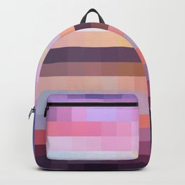 Sunset in Colorful Pixels Backpack
