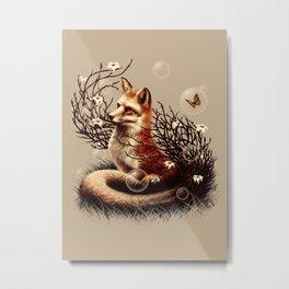 The Fox Tale Metal Print