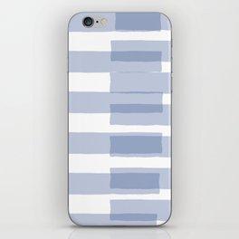 Big Stripes in Light Blue iPhone Skin