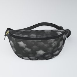 Floral Stars -Black and White, High Contrast Fanny Pack