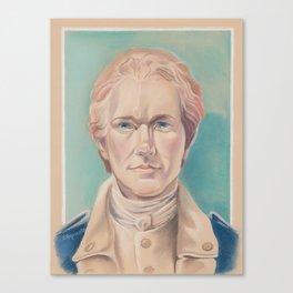 Hamilton in Uniform Canvas Print